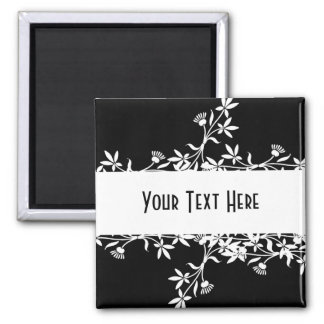 Blank Flower Label - Create Your Own Design Square Magnet