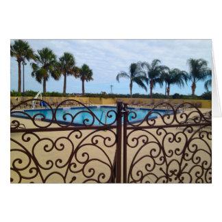 Blank Gated Pool Greeting Card
