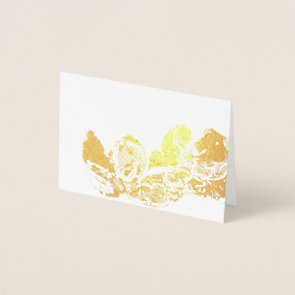 Blank Gold and White Seashell Still Life Foil Card