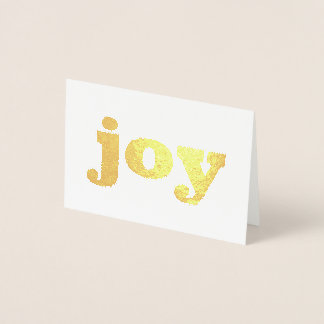 Blank Gold Foil Holiday Christmas Card