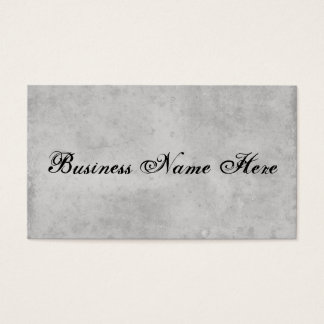 Blank Gray Vintage Dark Aged Stained Paper Business Card