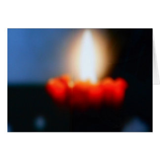 BLANK GREETING CARD - CANDLE