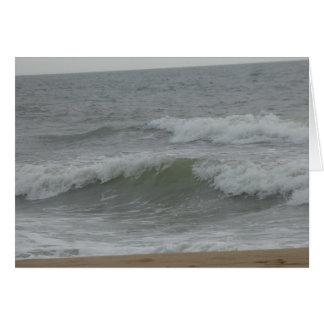 Blank Greeting card - Gray Waves