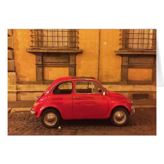 Blank Greeting Card - Italy Fiat 500