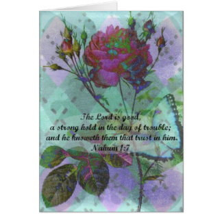 Blank Greeting card with Bible verse