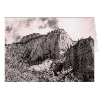 Blank Greeting Card with Rock Design