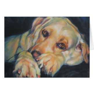 Blank Greeting Card yellow lab