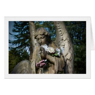 Blank Greetings Card: Angel With Flowers Greeting Card