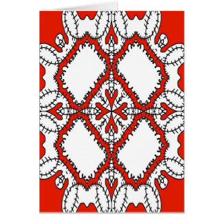 Blank Greetings/Note Card Abstract Graphic Design