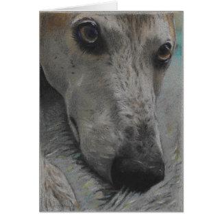 Blank Greyhound Greeting Card