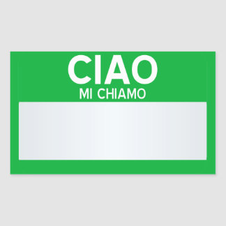 Blank Hello My Name Is ... Customizable Sticker