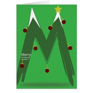 Blank Inside Card - MERRY CHRISTMAS M