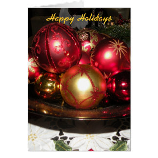 Blank Inside Happy Holidays Card