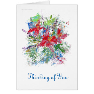 Blank Inside Thinking of You Card