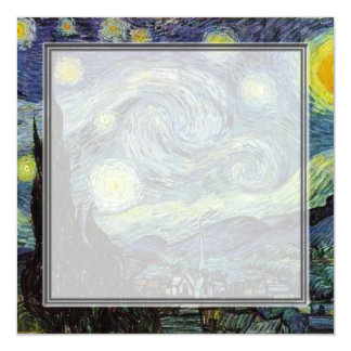 blank invitation, van Gogh starry night Card