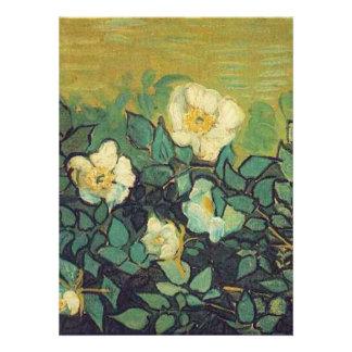 Blank invitation, Van Gogh Wild Roses Invitations