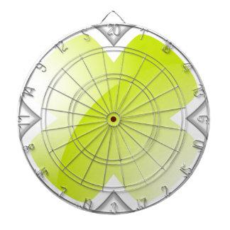 Blank Lime Green Cross Mark Icon Dartboard