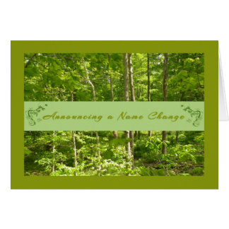 Blank Name Change Card with Natural Woods