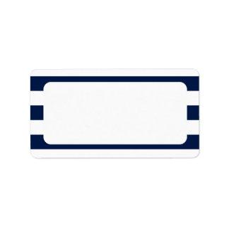 Blank Nautical Wedding Navy Stripes