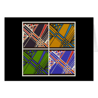 Blank Note Card (Abstract Plaid)