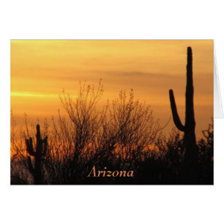 Blank Note Card--Arizona Sunset-3 Card