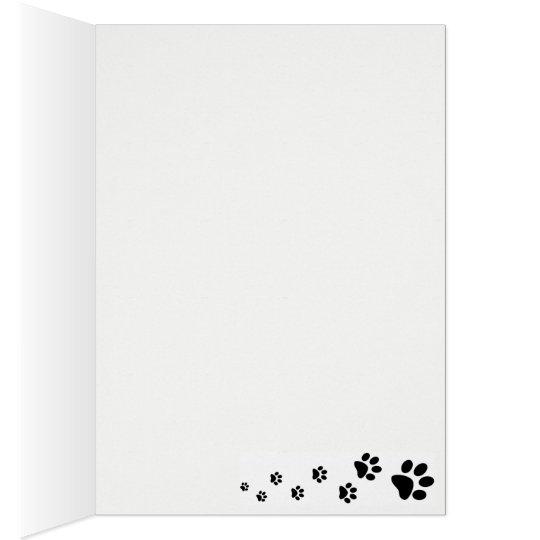 blank note card Australian Shepherd in snow