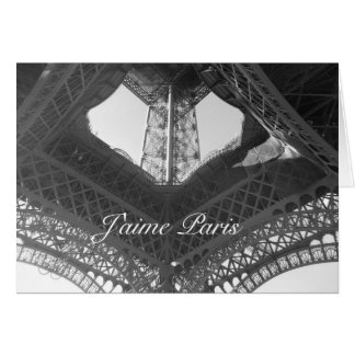 Blank Note Card--Eiffel Tower Base Card