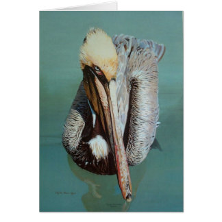 Blank Note Card - Pelican