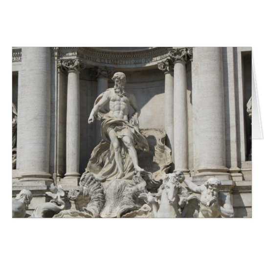 Blank Note Card--Trevi Fountain Card