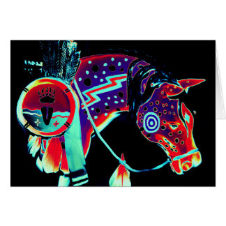 """Blank Note Card with """"Painted Pony"""" Design"""