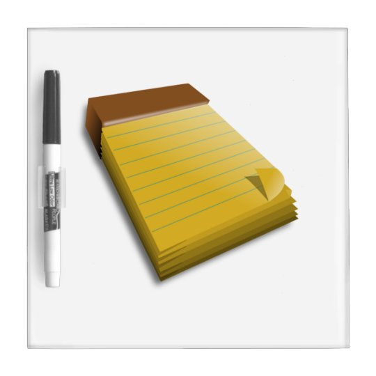 Blank Notepad Dry-Erase Whiteboard