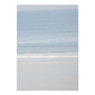 "Blank Ocean and Beach Background Paper 5"" X 7"" Invitation Card"