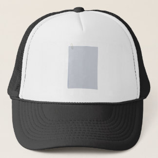 Blank papers and paperclip trucker hat