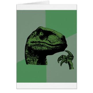 Blank Philosoraptor Greeting Card