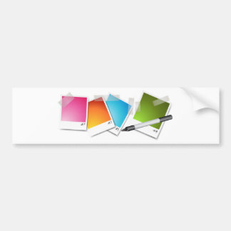 Blank Photos Taped Marker Bumper Sticker
