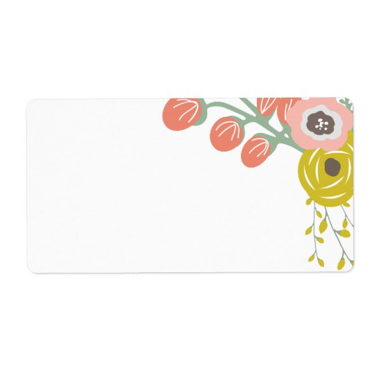 Blank Pink Botanical Labels