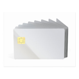 Blank plastic cards with chip