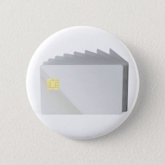 Blank plastic cards with chip 2 inch round button