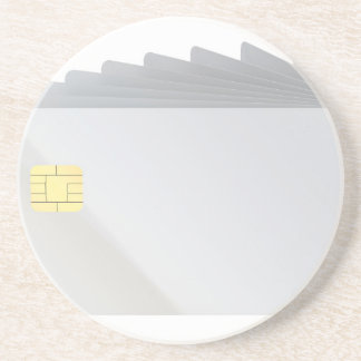 Blank plastic cards with chip coaster