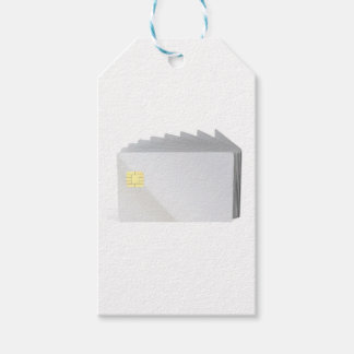 Blank plastic cards with chip gift tags