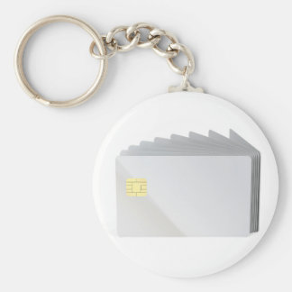 Blank plastic cards with chip keychain