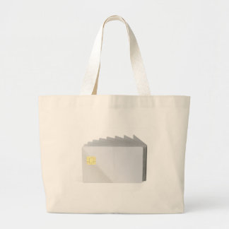 Blank plastic cards with chip large tote bag
