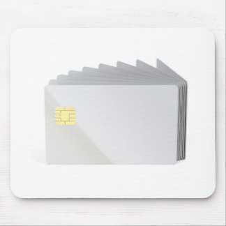 Blank plastic cards with chip mouse pad