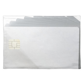 Blank plastic cards with chip placemat