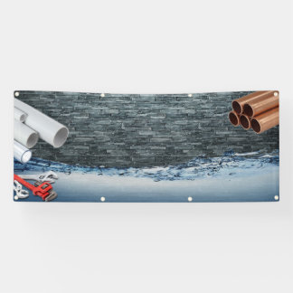 blank plumbing supply or service banner