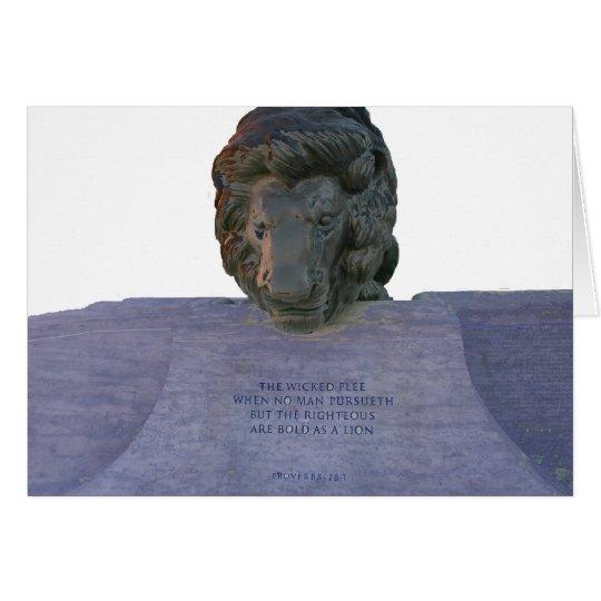 Blank Police Memorial Card