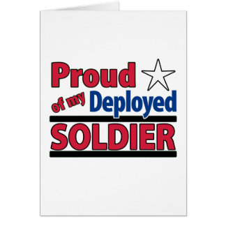 Blank Proud of my Deployed Soldier Card 2