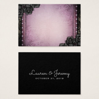 BLANK Purple & Black Gothic Seating Cards 3.5x2.5