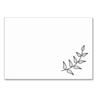 Blank Rustic Laurels Card
