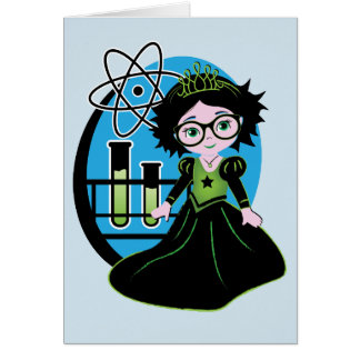 Blank Science Princess Note Cards! Card
